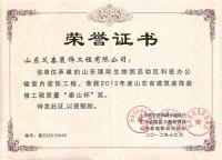 山东国际生物园启动区科技办公室装饰工程获泰山杯奖